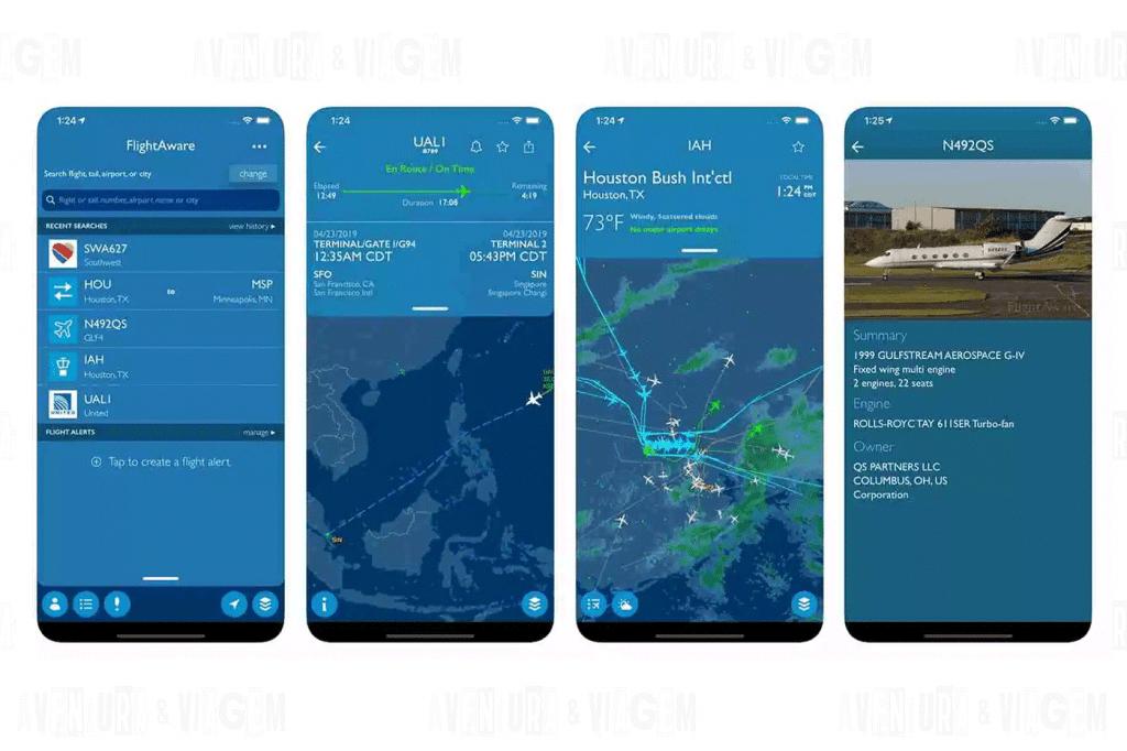Flightaware  um dos aplicativos indispensáveis